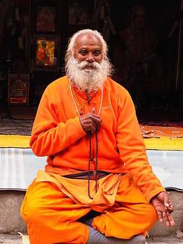 Swami Sundaranand At Tapovan Kutir 2 by Agnieszka Ledwon