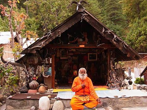Swami Sundaranand At Tapovan Kutir 3 by Agnieszka Ledwon