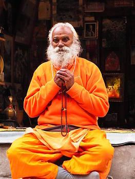 Swami Sundaranand At Tapovan Kutir 4 by Agnieszka Ledwon