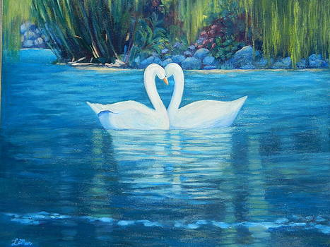 Swan Love by D Marie LaMar