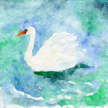 Swan on the lake by Yumi Kudo