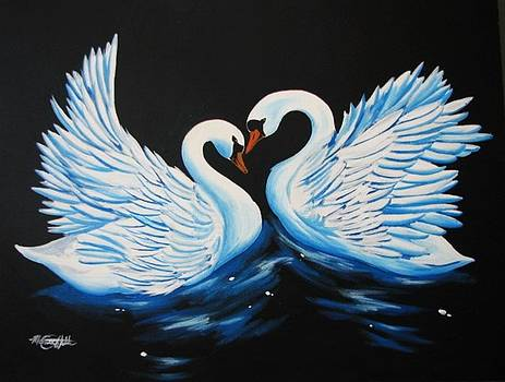 Swan Waltz by Monica  Webster