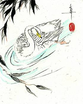 LINDA SMITH - Swan with Bamboo Branch