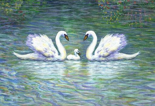 Linda Mears - Swans and Baby