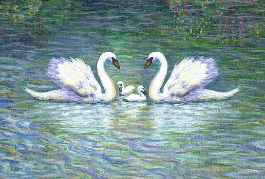 Linda Mears - Swans and Two Babies