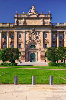 Swedish Parliament - Riksdag - Stockholm by Photography  By Sai