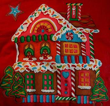 Sweet Christmas Gingerbread House  by April Wietrecki Green