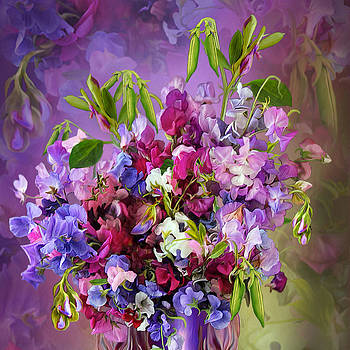 Sweet Pea Bouquet by Carol Cavalaris