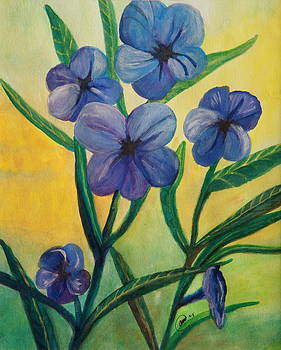 Sweet Petunias by Anne Kibbe