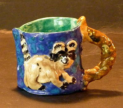 Sweet Raccoon Pitcher by Debbie Limoli