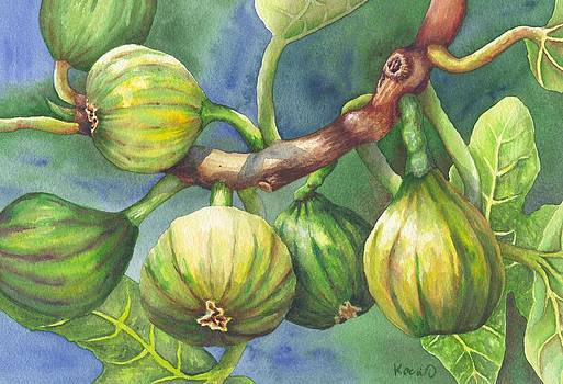 Sweet Temptation - Figs on a Branch by Oty Kocsis