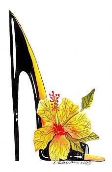 Sweetheart Hibiscus Stiletto by Elena Feliciano