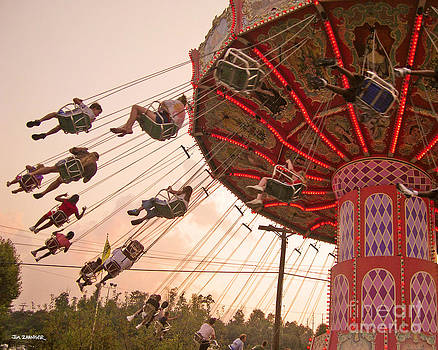 Swings at Kennywood Park by Carrie Zahniser