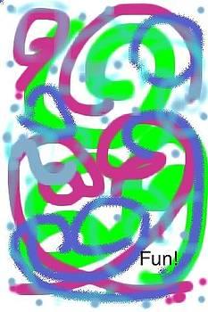 Swirling dots by Pamela Randall