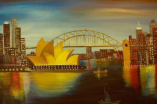 Sydney City  Skyline by Shraddha Tiwari