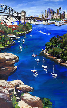 Sydney Harbour Boats by Shirley  Peters