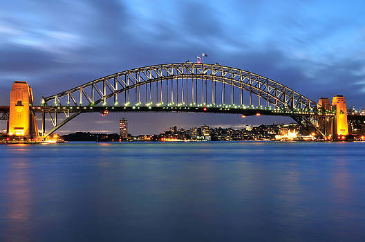 Sydney Harbour Bridge at Twilight by Photography  By Sai