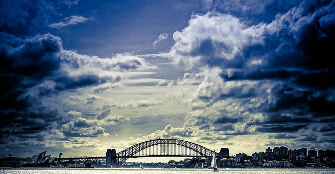 Sydney Harbour - Cobalt by Jamian Stayt