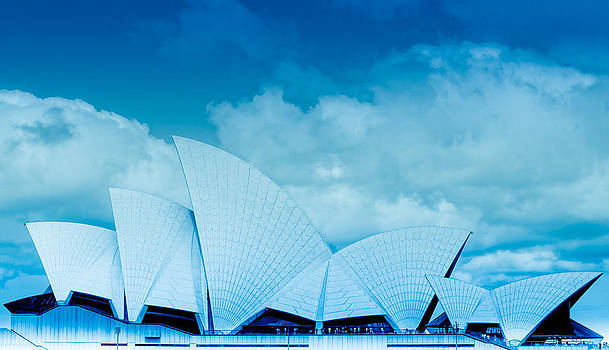 Sydney Harbour Opera House - Cobalt by Jamian Stayt