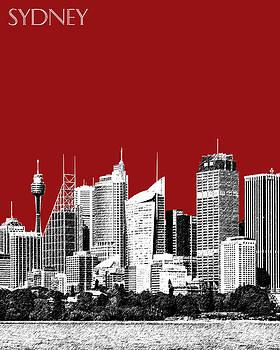 DB Artist - Sydney Skyline 1 - Dark Red