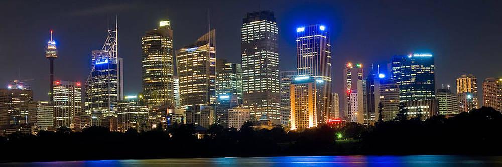 Sydney Skyline at Night by Cliff C Morris Jr