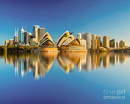 Algirdas Lukas - Sydney Skyline with reflection