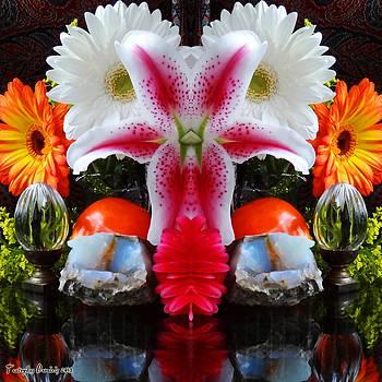 Symmetric life. Flowers. 2013 80/80 cm.  by Tautvydas Davainis