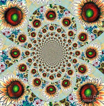 Genevieve Esson - Symphony Of Sunflowers Kaleidoscope Mandela