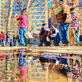 Syncopated Puddle Music Drew A Crowd In by Stacey Lewis