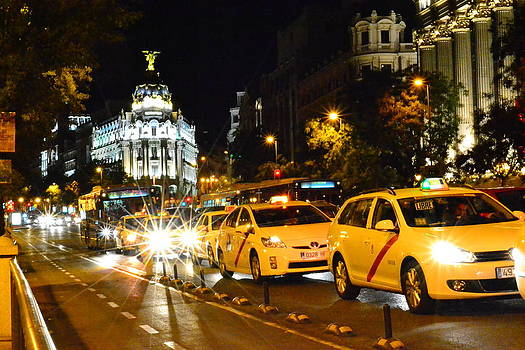 Taxi Madrid Spain by Angela Seager