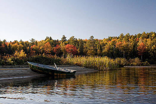 Tahquamenon Falls State Park Canoe on Dock  by Angela  Beauchamp