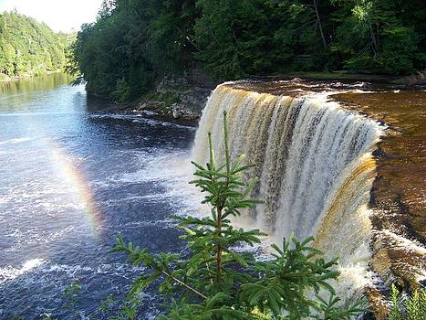 Tahquamenon Upper Falls - Rainbow by Jennifer  King