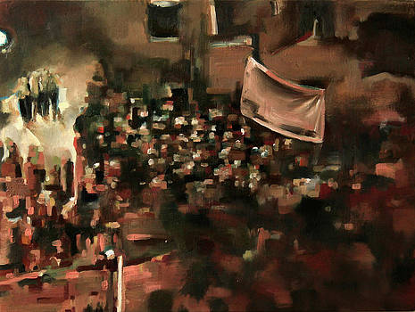 Tahrir Square Painted in Chicago February II by Benjamin Roberts