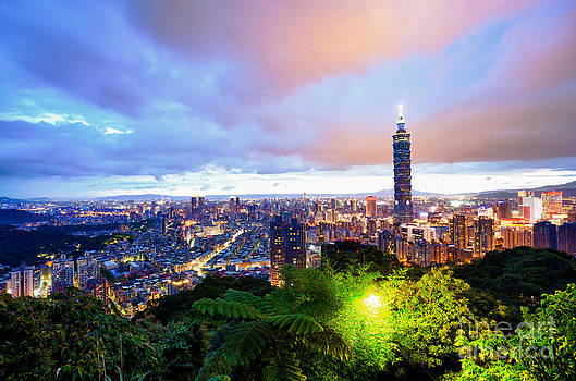 Fototrav Print - Taipei city night skyline Taiwan cityscape