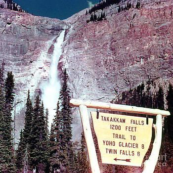Linda Rae Cuthbertson - Takakkaw Falls Waterfalls Cascade 1960