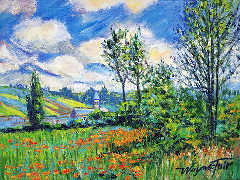 Taken from lane in the poppy fields ile saint martin after Monet by Wayne Fair