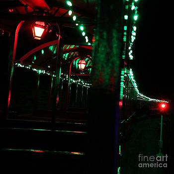 Taking in the lights riding the rails by Scott Allison