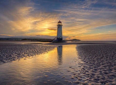 Talacre Beach Lighthouse by Mike  Hardisty