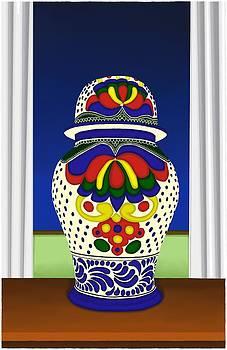 Talavera Pot 2 by Britton Britt Cagle