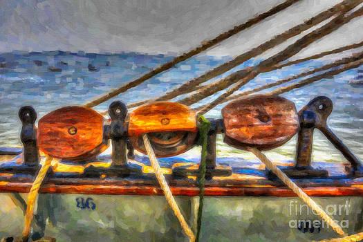 Dale Powell - Tall Ship Line Blocks