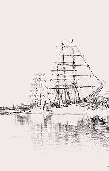 Carolyn Stagger Cokley - tall ship1 charcoal