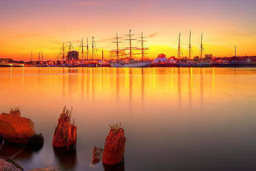 Tall ships at Bay by Fuad Azmat