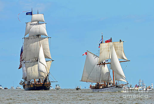 Tall Ships on Saginaw Bay by Rodney Campbell