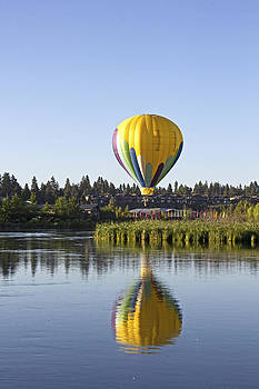 Tall Yellow Balloon Reflections by Ginger Sanders