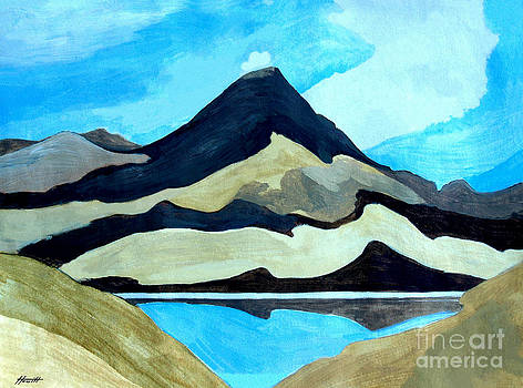Tama Lakes and Mount Doom by Patricia Howitt