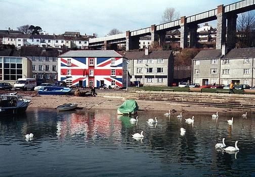 Tamar bridge Saltash Cornwall by Geoff Cooper