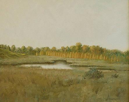 Tamarack Pond by Sherri Anderson