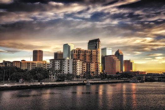 Tampa Skyline at Sunrise in HDR by Michael White