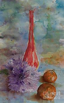 Tangerines 'n' dahlias by Marisa Gabetta