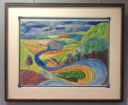 Tangle of Garrowby Hill by Hockney by Jane Curran